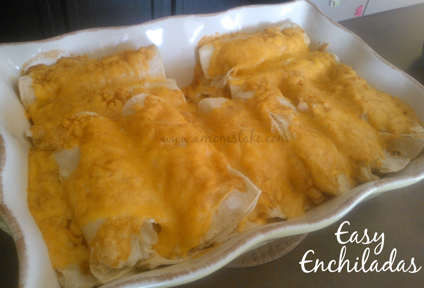 Easy dinner recipes easy chicken enchilada recipe a moms take easy chicken enchilada recipe forumfinder Choice Image