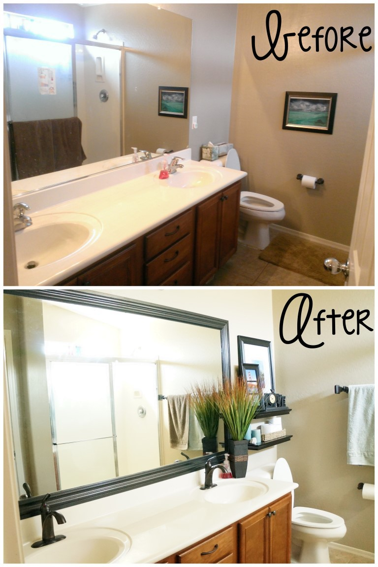 Small bathroom design ideas remodel a mom 39 s take Cheap bathroom remodel before and after