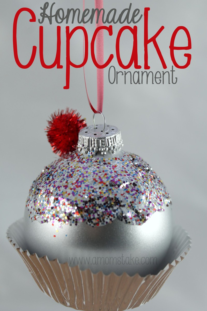 Homemade Christmas Ornament Cupcake! - A Mom's Take