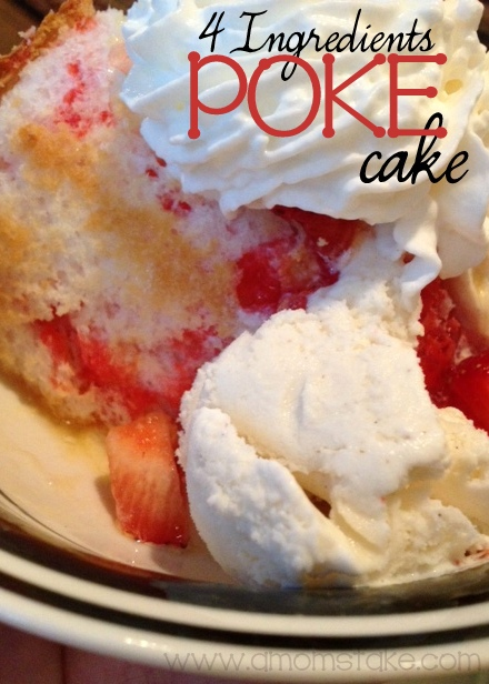 Strawberry Angel Food Poke Cake