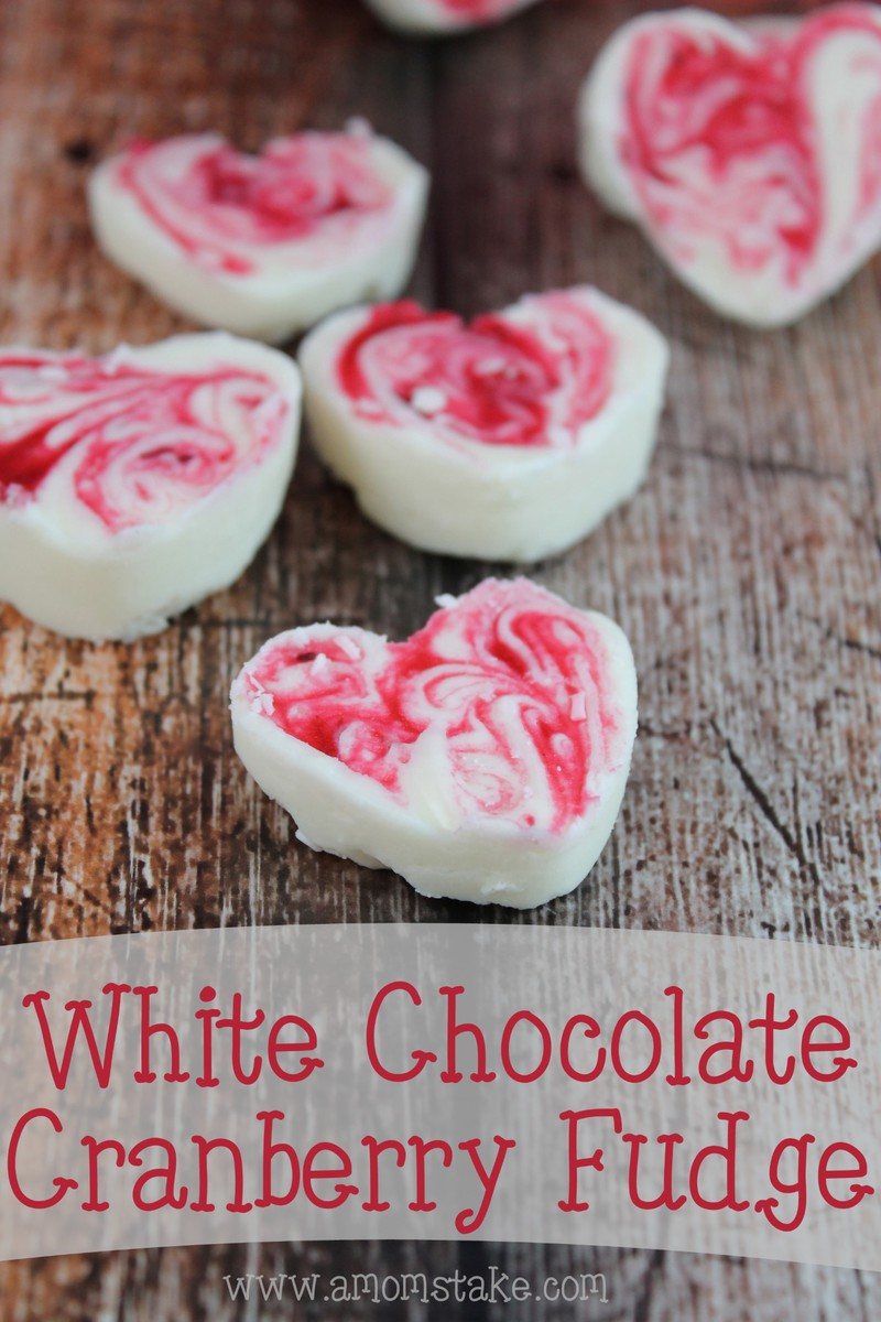 White Chocolate Cranberry Fudge