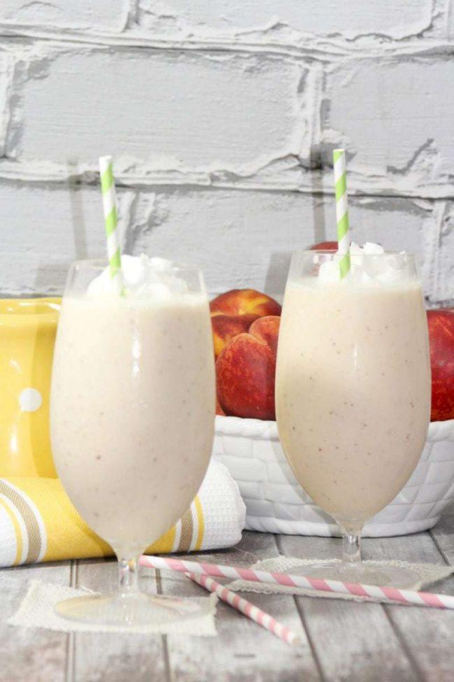 Copycat peach milkshake