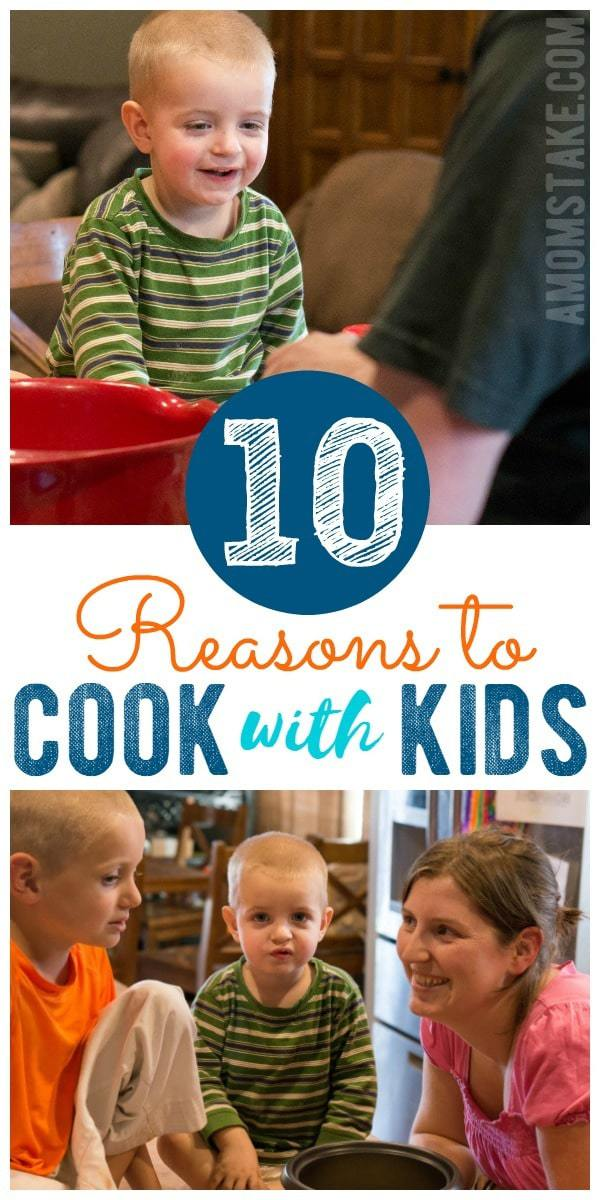There are so many reasons to get into the kitchen and cook with your kids, but these are 10 of our favorites! It's a genius parenting trick to calming down the hectic dinner time hour and helps open your kids up to new recipes and healthy eating. Come see the full list!