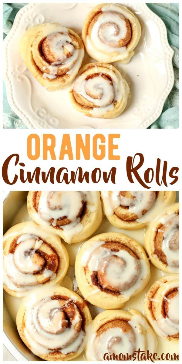 Sweet orange creme cinnamon rolls! Adding orange juice to the dough and icing makes these cinnamon rolls sweet and a great change of pace. Perfect breakfast or brunch for a special occasion.
