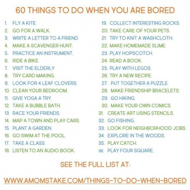 Easy Amp Cheap Things To Do When You Re Bored For Kids And