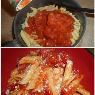 Easy Dinner Recipes: Penne Pasta & Tomatoes