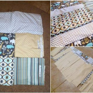 DIY Rag Quilt Strips Pattern and Tutorial