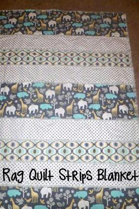 Diy Rag Quilt Strips Pattern And Tutorial A Moms Take