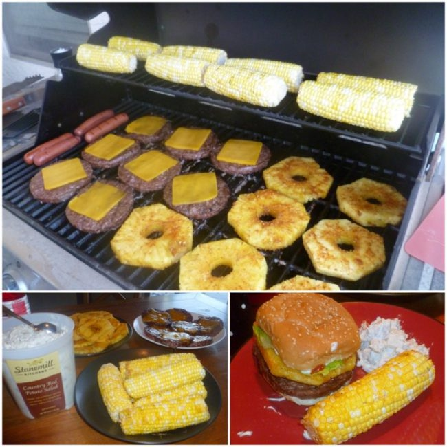 Sam's Club Meal on a Grill
