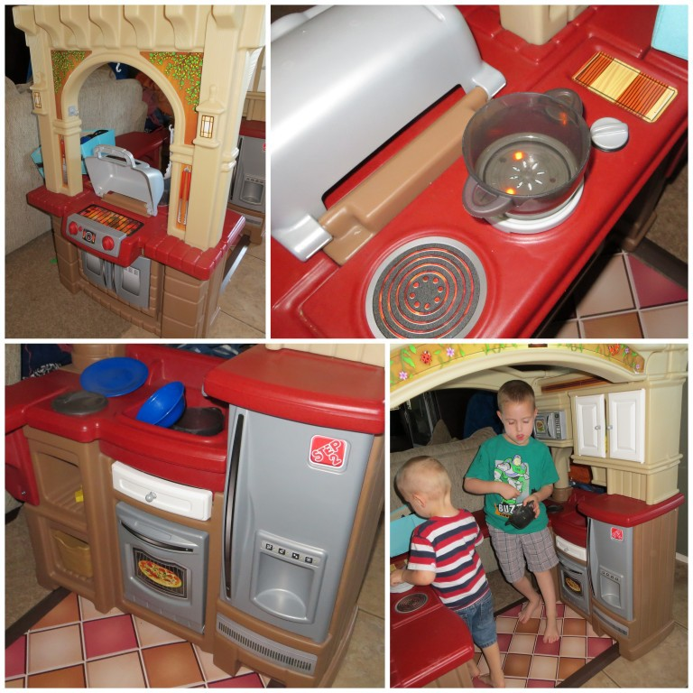 Step2 grand walk in kitchen grill review a mom 39 s take for Kitchen set for 2 year old boy