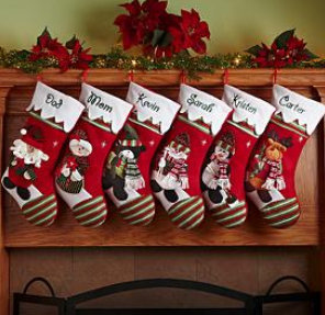 stockings stocking creations personal christmas personalized gifts wonderland winter holiday nicolae cadouri mos santa personalcreations order xmas navidad mom diy