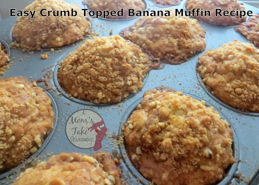 Easy Crumb Topped Banana Muffin Recipe