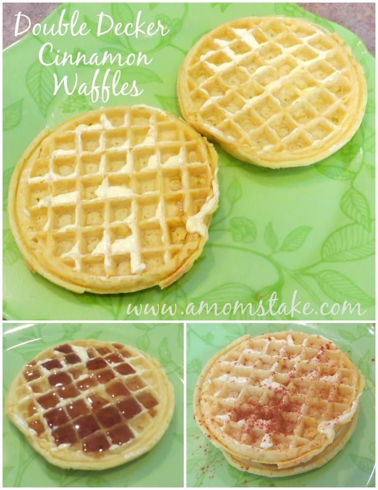 Double Decker Cinnamon Waffle Recipe
