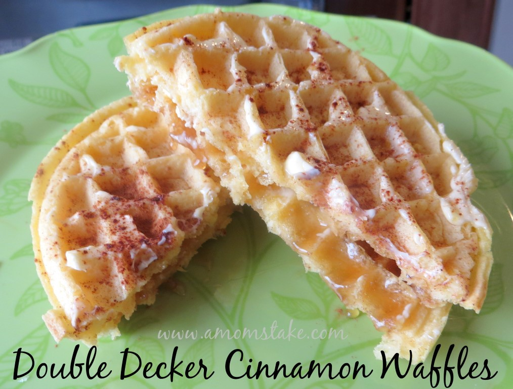 Double Decker Cinnamon Waffle Recipe at A Mom's Take