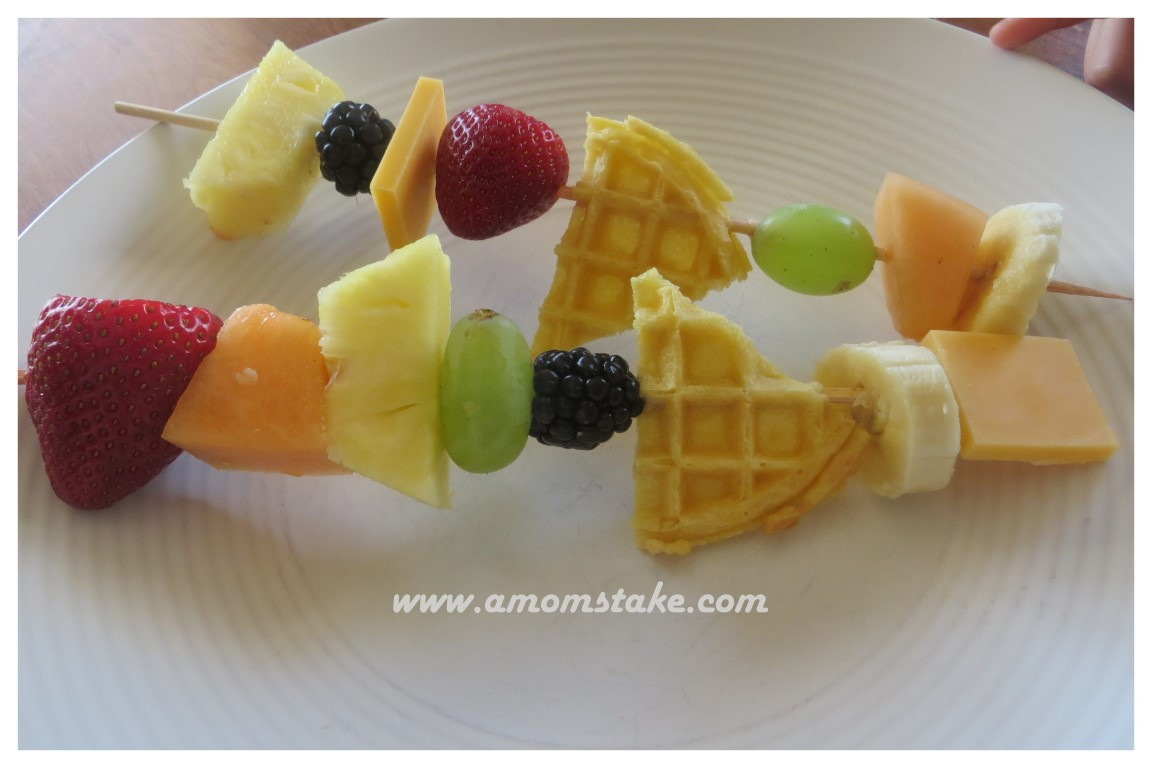 Simple and delicious Fruit Kebabs snack for kids! #Recipe #Kids