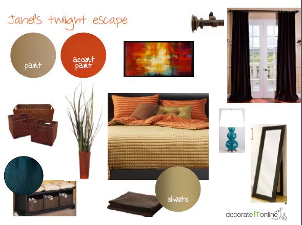 Master Bedroom Room Design - DecorateItOnline Room Plan