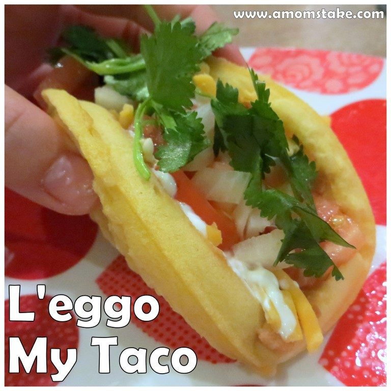 You better L'eego My Waffle Taco! Recipe at A Mom's Take