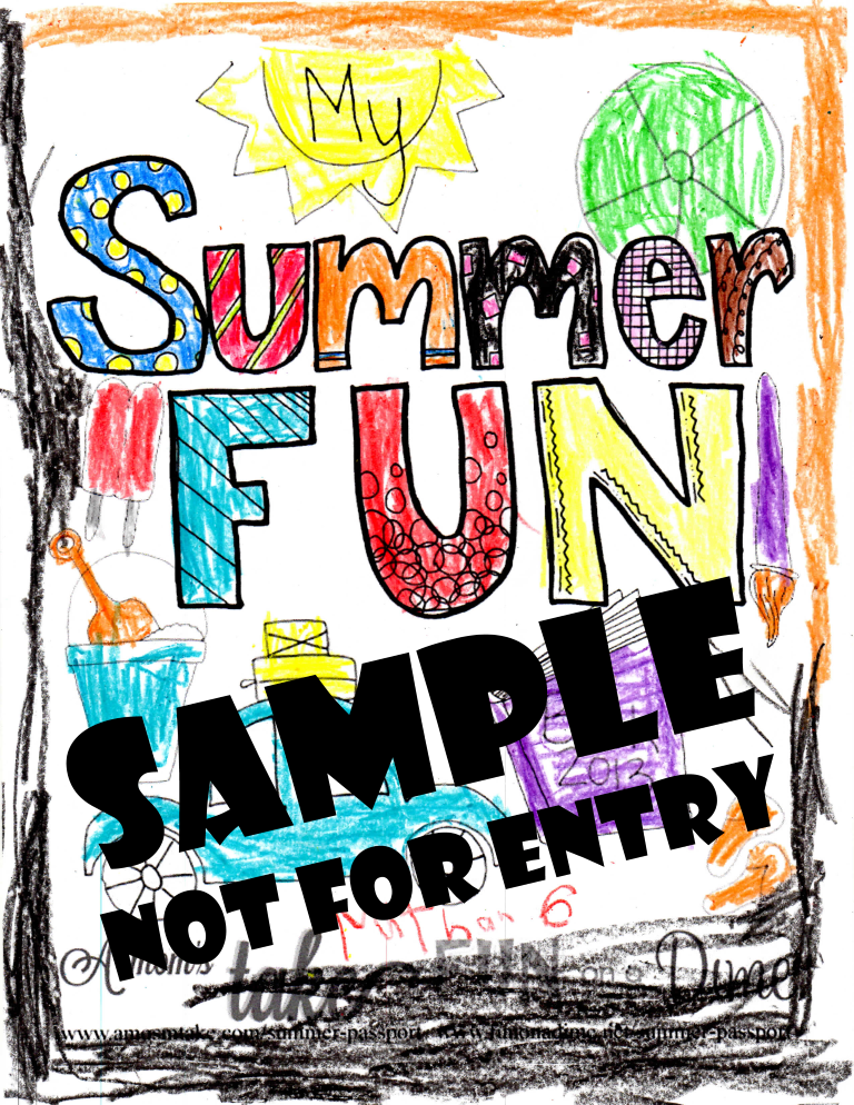 Summer Fun Coloring Contest Sample