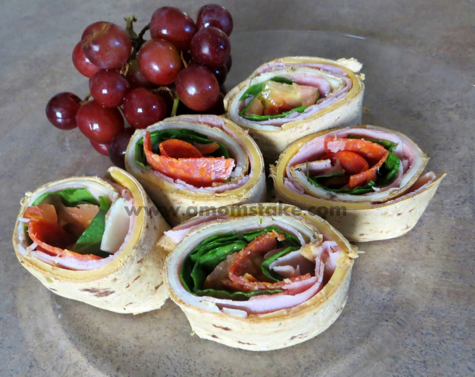 Flatout Pinwheel Party Sandwiches