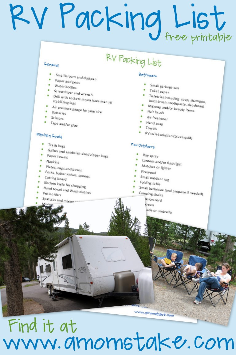 RV RoadTrip Packing List