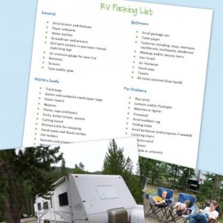 RV Roadtrip Checklist – What to Pack for Your RV Trip