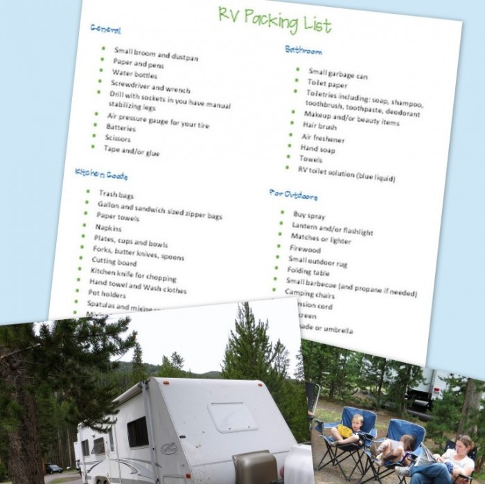 picture regarding Rv Packing List Printable referred to as RV Roadtrip List - What towards Pack for Your RV Holiday vacation - A