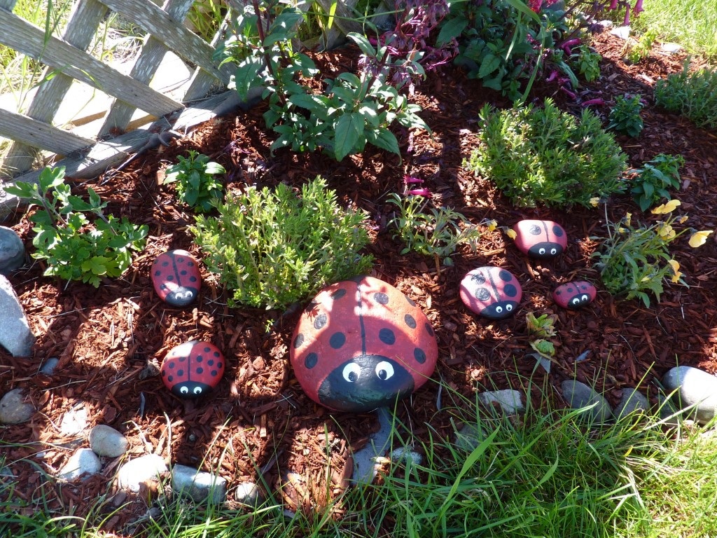 Ladybug Rocks For Your Garden A Mom S Take