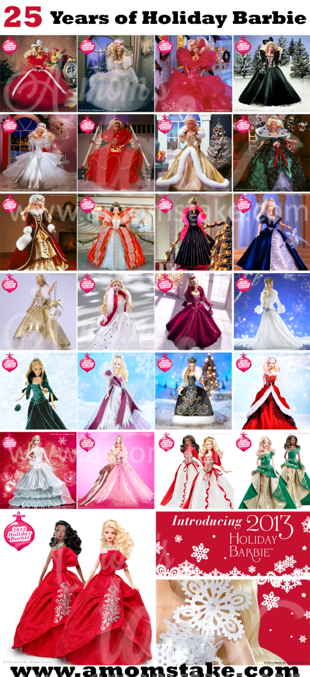 25 Years of Holiday Barbies - Holiday Barbie Pictures