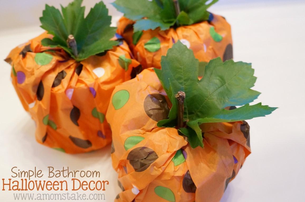 Pumpkin Toilet Paper Rolls