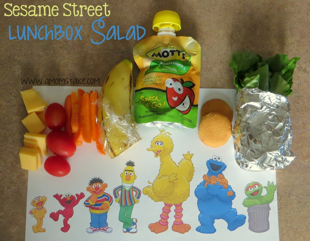 Sesame Street School Lunch Salad