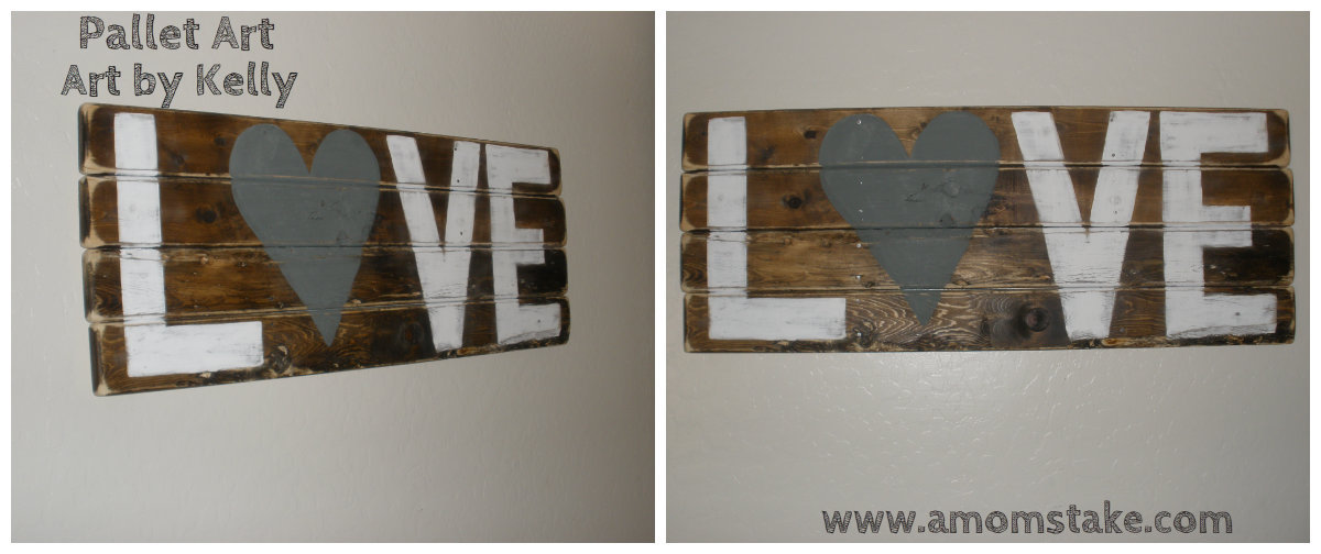 Reclaimed Wood Pallet Art A Mom S Take