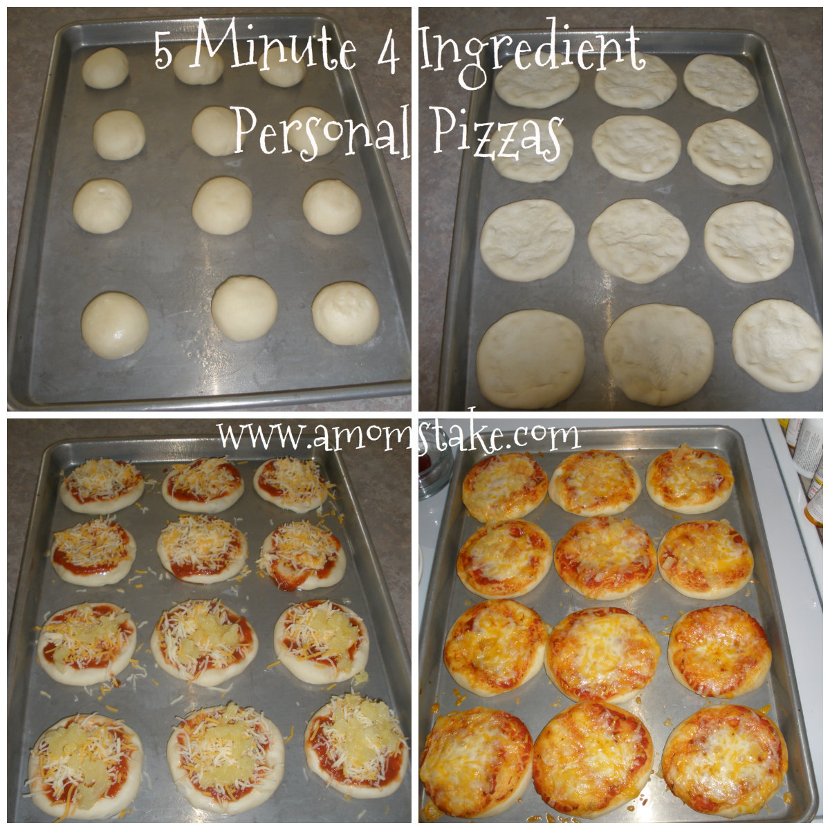 Easy Dinner Recipes 5 Minute 4 Ingredient Personal Pizza Recipe A Mom S Take