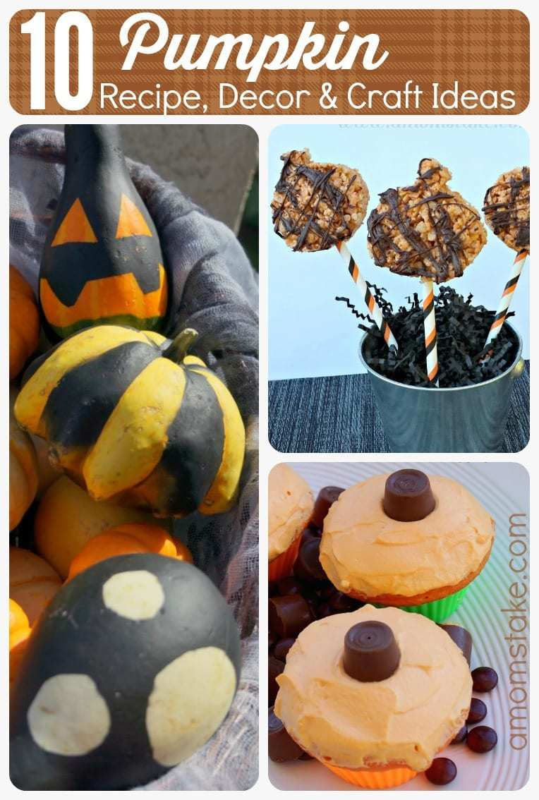 10 Pumpkin Recipe Decor and Craft Ideas