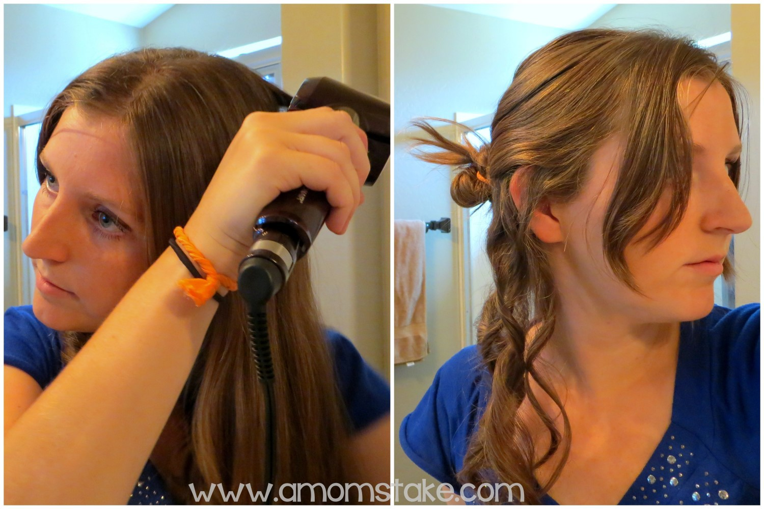 simple hairstyles side curls ponytail a mom 39 s take. Black Bedroom Furniture Sets. Home Design Ideas