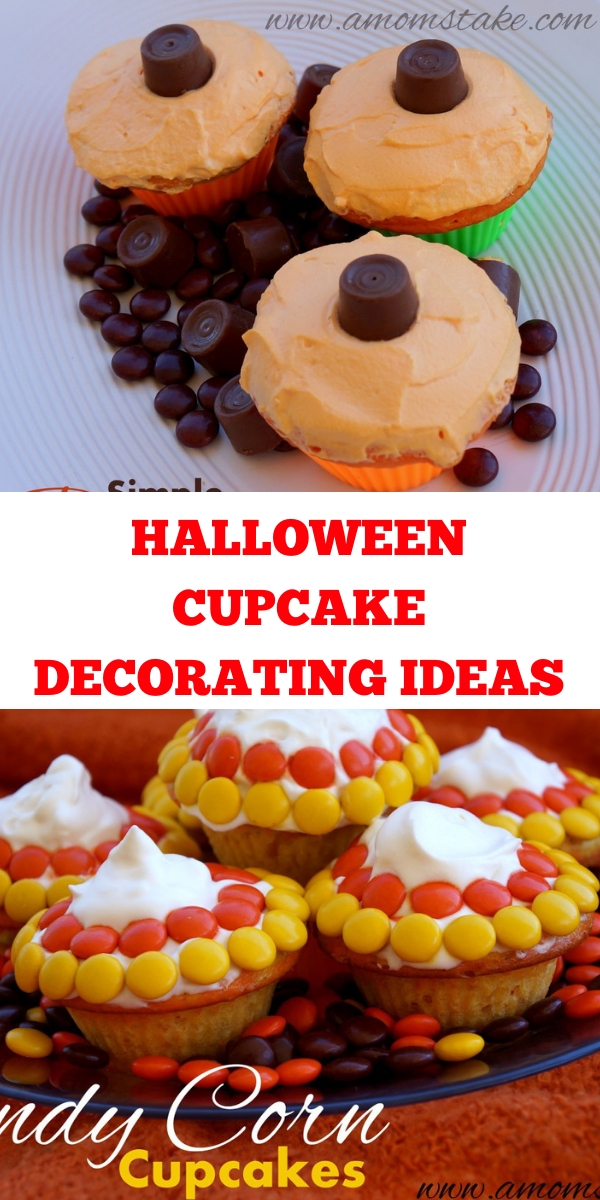 easy halloween cupcake decorations, super easy cupcake decorating ideas, easy halloween cupcakes decorating ideas, halloween cupcake decorations ideas