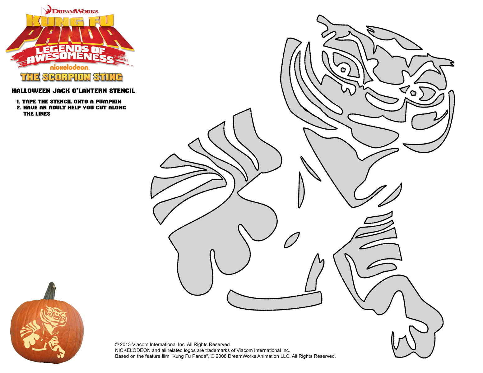 DreamWorks Halloween Pumpkin Stencils - A Mom\'s Take
