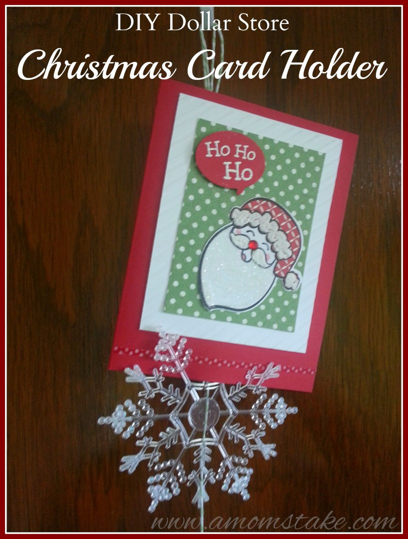 Diy dollar store christmas card holder a mom 39 s take for Door xmas card holders