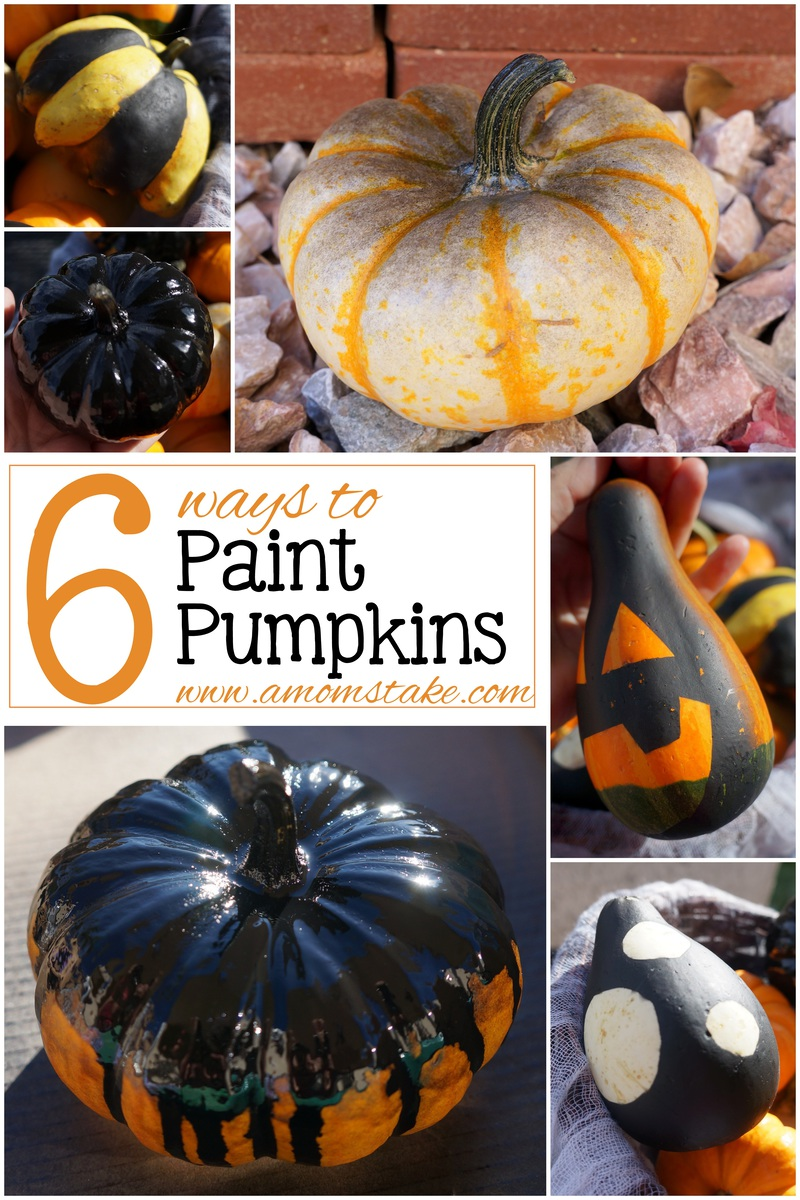 6 Ways to Paint Pumpkins