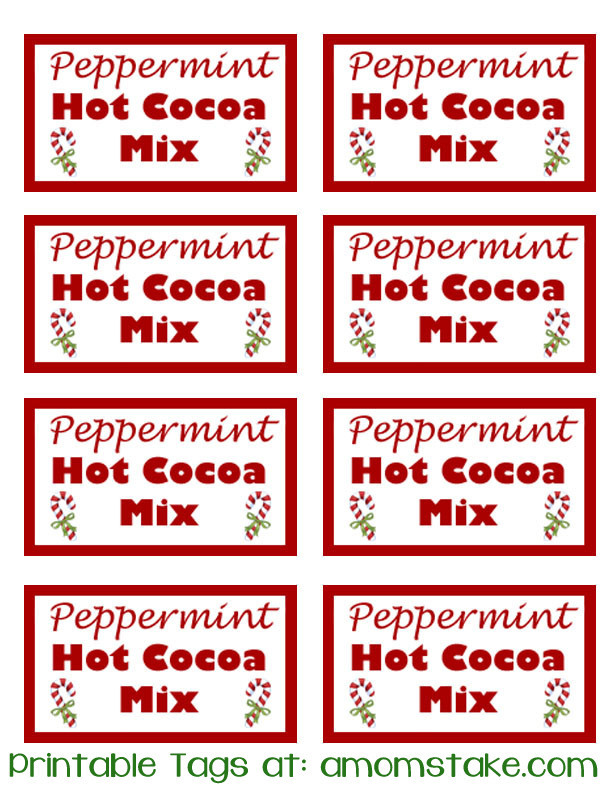 recipes in a jar peppermint hot cocoa mix