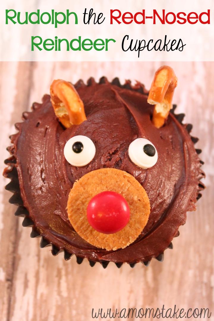 Rudolph Reindeer Christmas Cupcakes