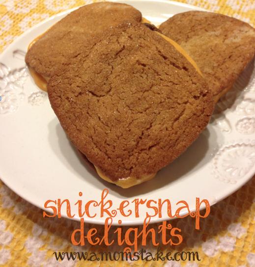Snickersnaps Delight Cookies Recipe! Snickerdoodles + gingersnaps combined = Genius!