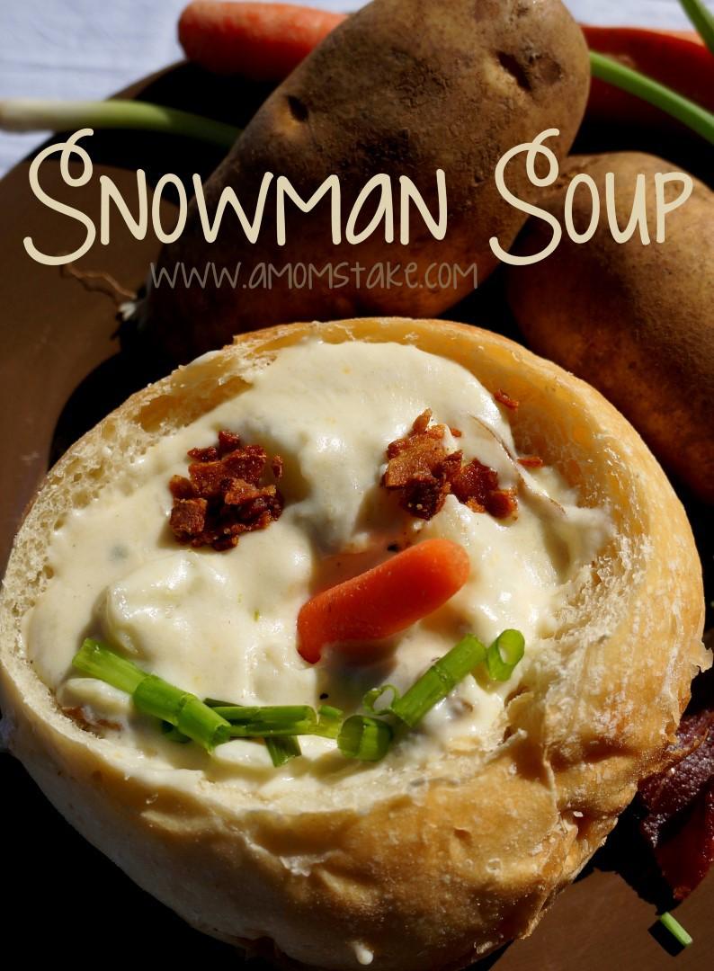 Snowman Potato Soup