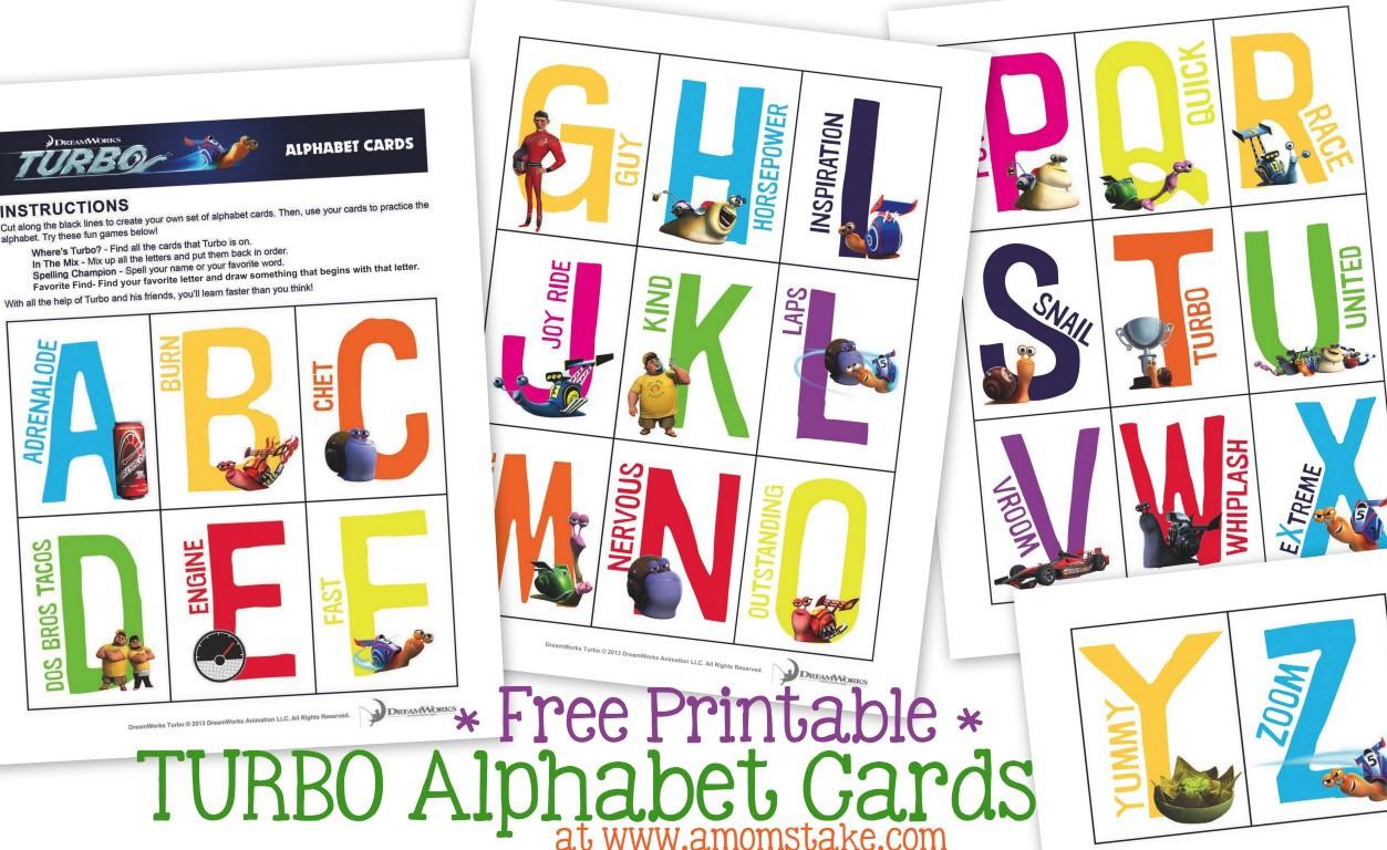 Turbo Alphabet Cards