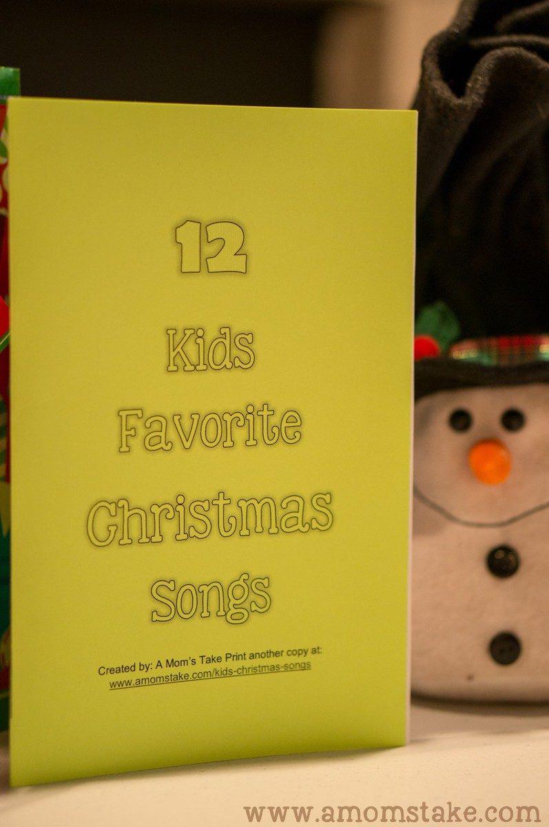 Printable Kids Christmas Songbook