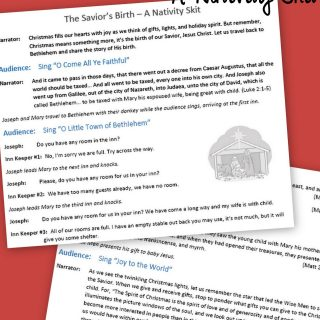 the saviors birth a nativity skit script with music free printable a moms take