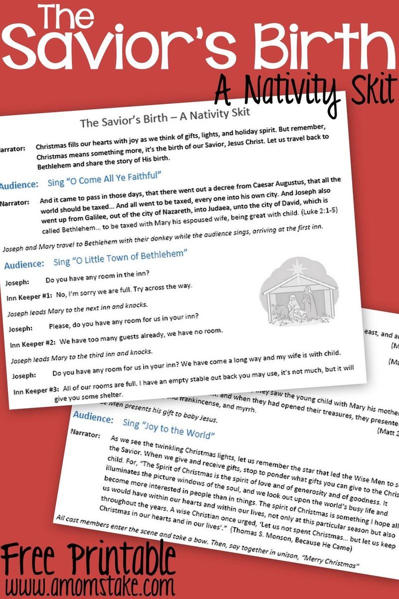 The Savior's Birth - A Nativity Skit