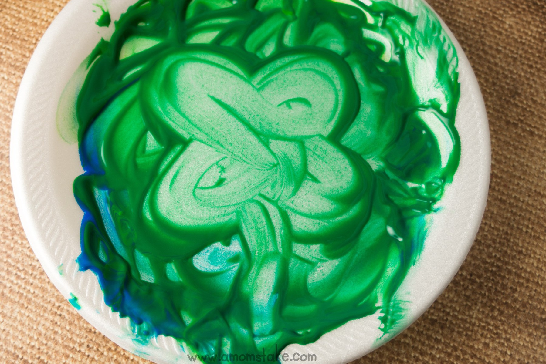Finger Paint Clover