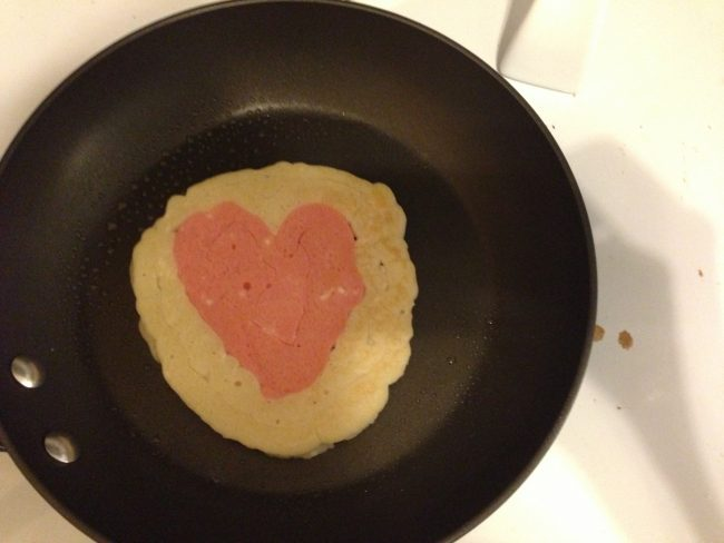 Heart Pancakes #ValentinesDay