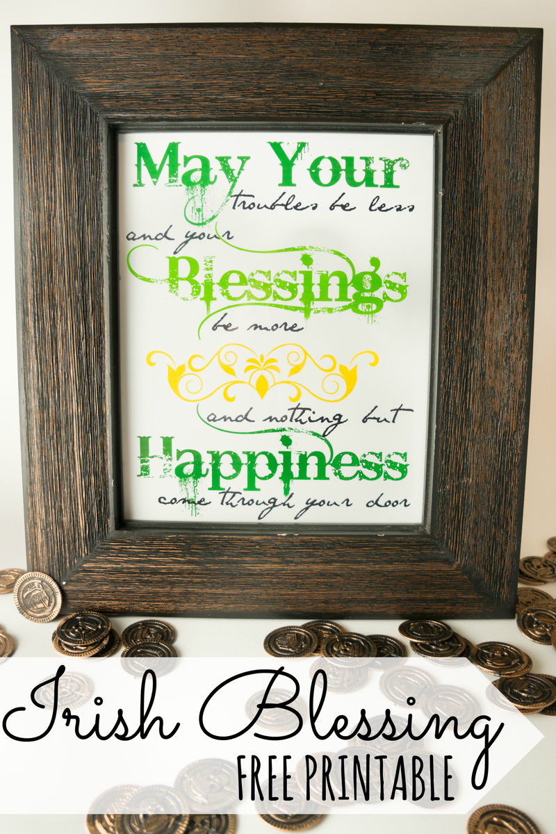 Irish Blessing Printable Art