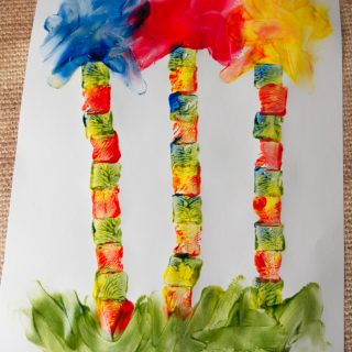 Lorax Trees Finger Painting Art